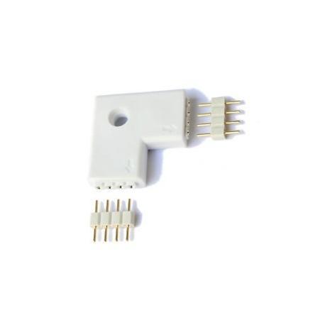 Conector Rigido tipo L para tira LED rgb
