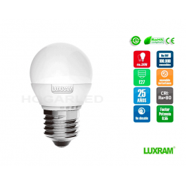 E27 6.5w Esferica 650lm Luxram