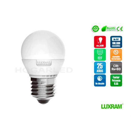E27 Esferica Luxram 6.5w 650lm