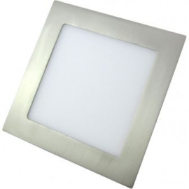 Downlight Cuadrado 18w Niquel satinado