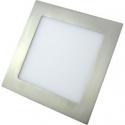 Downlight LED 18W Cuadrado Níquel Satinado