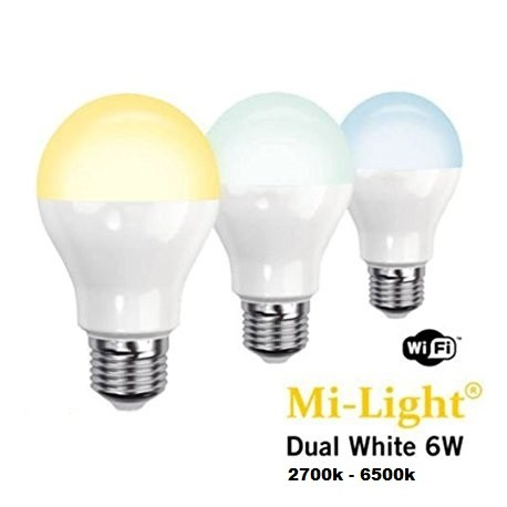 E27 6W Bulb Wifi Mi-Light Cambio Temperatura