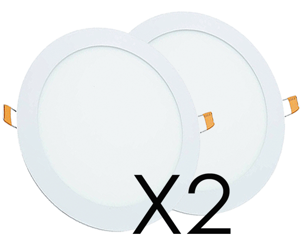 Oferta Downlight LED 18W Circular Pack 2 Unidades Blanco Frío