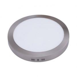 Plafón LED 24W Circular Níquel