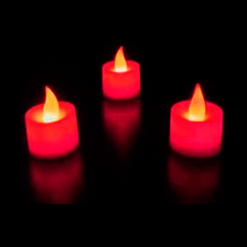 Velas LED ROJA