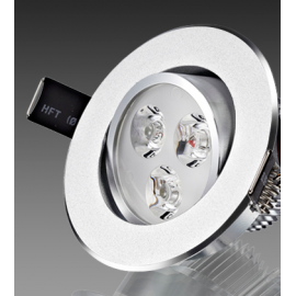 Foco Downlight led 3W Gris