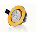 Foco Downlight led 3W Dorado