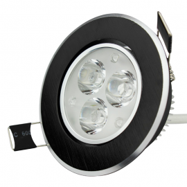 Foco Downlight led 3W Negro (imitacion madera)