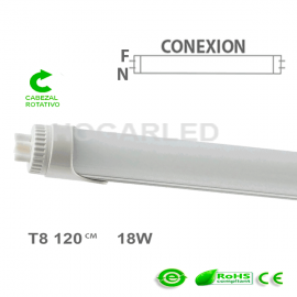 Tubo T8 120cm ECO-Rotativo 1L  18W