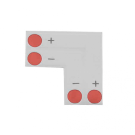 Conector tipo L tira LED Monocolor