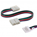 Cable Conector flexible tira LED RGB Doble Terminal