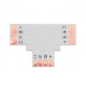 Conector tipo T  tira LED rgb