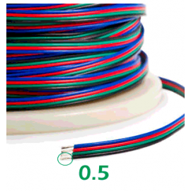 Cable RGB 4 pin por metros