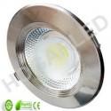 Downlight LED 15W COB Plata