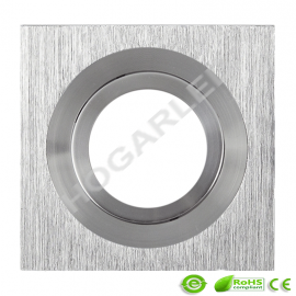 Ojo de buey cuadrado orientable gris plata