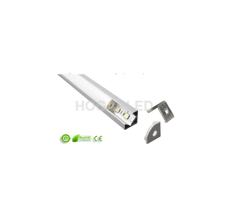 Perfil esquinero aluminio - Perfil aluminio blanco ...