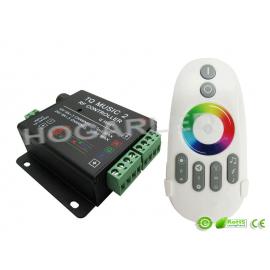 Controlador LED WIFI función música, con mando RGB
