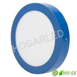 Plafón LED 18W  Azul