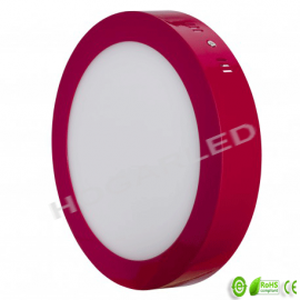 Panel LED superficie 18W Rojo