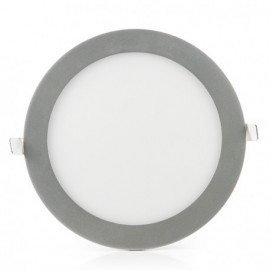 Downlight LED 18W Redondo Gris Plata