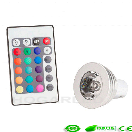 Lámpara LED GU10 Multicolor con Mando a Distancia