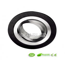 Aro dicroica negro circular style basculante